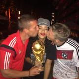 Rihanna with the World Cup in Rio de Janeiro (13th July 2014)