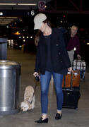 Minka Kelly- booty in jeans at LAX Airport 11/05/13 (HQ)
