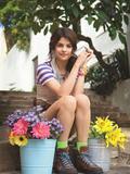 Selena Gomez: Teen Vogue July 2009--Short Blue Dress, Sexy Boots & Pearls