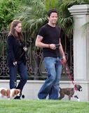 Jennifer Love Hewitt and Ross McCall out walking their dogs, April 19