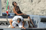 Naomi Campbell Bikini On The Dolce Gabbana Boat x9 hq
