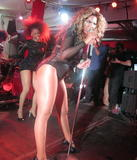 Beyonce Knowles sexy leotard @Muatsim Gaddafi Party, St Barts 31/12/09